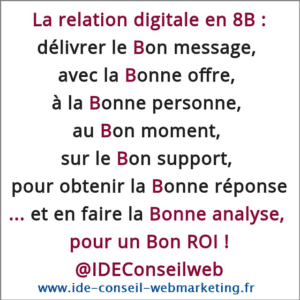 La relation client digitale par IDEConseil, consultant.e marketing digital, accompagnement E-Business 360°°